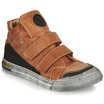 Shoes Boy High top trainers Achile HUGO Brown