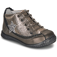 Shoes Girl Mid boots Ikks SYDNEY Taupe / Gold