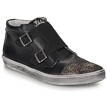 Shoes Girl High top trainers Ikks BIANCA Black
