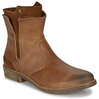 Shoes Girl Mid boots Ikks PAMELA Cognac