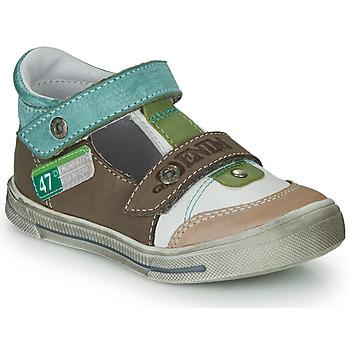 Shoes Boy Sandals GBB PEPINO Brown / Beige / Green