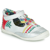 Shoes Girl Ballerinas Catimini PANTHERE White / Multicolour