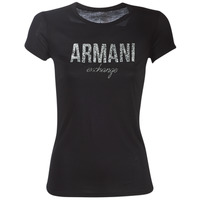 material Women short-sleeved t-shirts Armani Exchange 8NYT98-Y9C8Z Black