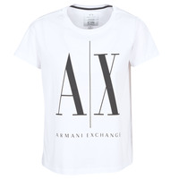 material Women short-sleeved t-shirts Armani Exchange 8NYTCX-YJG3Z-5102 White