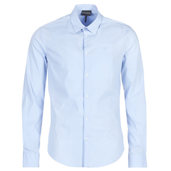 material Men long-sleeved shirts Emporio Armani 8N1C09-1N06Z-0786 Blue