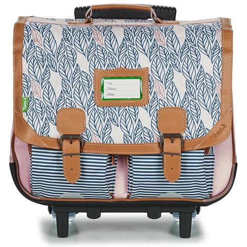 Bags Girl Rucksacks / Trolley bags Tann's CREATION FLORE TROLLEY CARTABLE 41 CM Pink