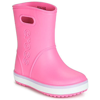 Shoes Girl Wellington boots Crocs CROCBAND RAIN BOOT K Pink