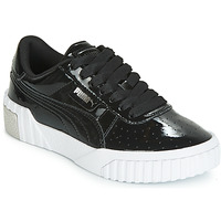 Shoes Girl Low top trainers Puma CALI PATENT JUNIOR Black