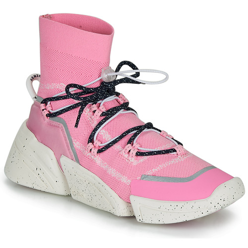 Shoes Women High top trainers Kenzo K SOCK SLIP ON Pink