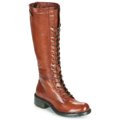 Shoes Women Boots Dream in Green WADDAH Cognac