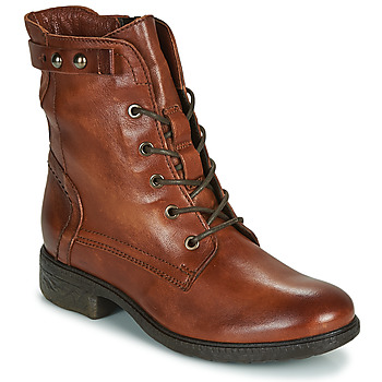 Shoes Women Mid boots Dream in Green ERVANE Cognac