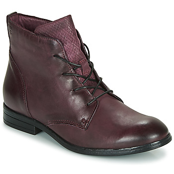Shoes Women Mid boots Dream in Green LAMPEDI Bordeaux