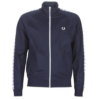 material Men Jackets Fred Perry TAPED TRACK JACKET Marine
