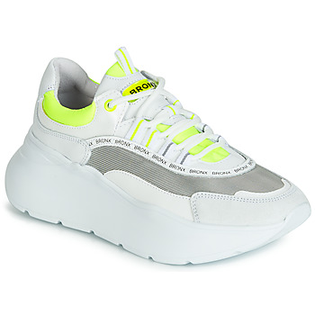 Shoes Women Low top trainers Bronx GRAYSON White / Yellow