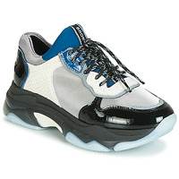Shoes Women Low top trainers Bronx BAISLEY Black / Silver / White