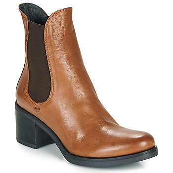 Shoes Women Ankle boots Fru.it VENETO Cognac