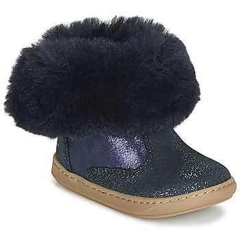 Shoes Girl Mid boots Shoo Pom BOUBA FUR BOOTS Marine