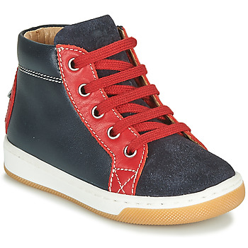 Shoes Boy High top trainers Shoo Pom DUDE FORCE Marine / Red