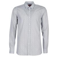 material Men long-sleeved shirts HUGO ELISHA02 Grey