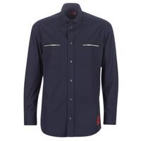 material Men long-sleeved shirts HUGO ETRUS Marine