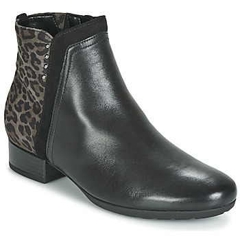 Shoes Women Mid boots Gabor 3271267 Black / Leopard