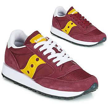 Shoes Women Low top trainers Saucony JAZZ ORIGINAL VINTAGE Bordeaux / Yellow