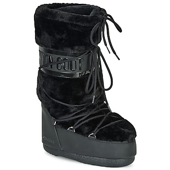 Shoes Women Snow boots Moon Boot MOON BOOT CLASSIC FAUX FUR Black
