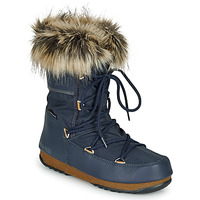 Shoes Women Snow boots Moon Boot MOON BOOT MONACO LOW WP 2 Marine