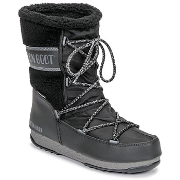 Shoes Women Snow boots Moon Boot MOON BOOT MONACO WOOL MID WP Black