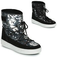 Shoes Women Snow boots Moon Boot MOON BOOT PULSE MID DISCO Black / Glitter