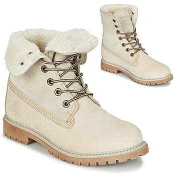 Shoes Women Mid boots Lumberjack RIVER Cream