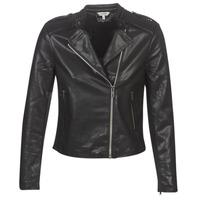 material Women Leather jackets / Imitation leather Kaporal XUT Black