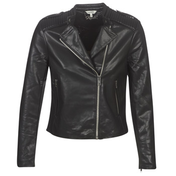 material Women Leather jackets / Imitation leather Kaporal XUT Black