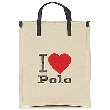 Bags Women Shopper bags Polo Ralph Lauren I HRT POLO CVS/LTHR Ecru
