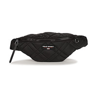 Bags Women Bumbags Polo Ralph Lauren SPORT FANNYPACKQUILTED NYLON/LTHR Black