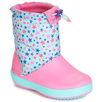 Shoes Girl Snow boots Crocs CB LODGEPOINT GRAPHIC WNTRBT K Pink / Blue