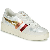 Shoes Women Low top trainers Gola GRANDSLAM SHIMMER FLARE Beige / Silver