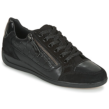Shoes Women Low top trainers Geox D MYRIA Black