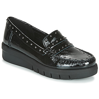Shoes Women Loafers Geox D WIMBLEY MOC Black