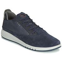 Shoes Men Low top trainers Geox AERANTIS Marine