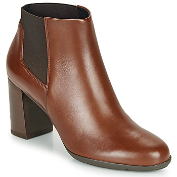 Shoes Women Ankle boots Geox D NEW ANNYA Brown