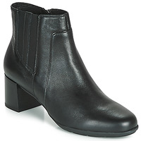 Shoes Women Ankle boots Geox D NEW ANNYA MID Black