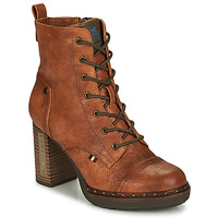 Shoes Women Ankle boots Mustang 1336502-309 Cognac
