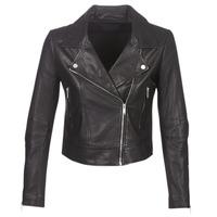 material Women Leather jackets / Imitation leather Ikks BM48145-02 Black