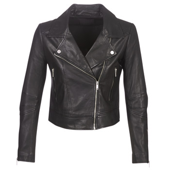 material Women Leather jackets / Imitation leather Ikks BM48145-02 Black