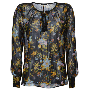 material Women Blouses Ikks BP13125-02 Black / Multicoloured