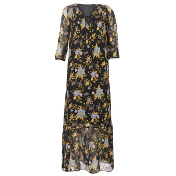 material Women Long Dresses Ikks BP30195-02 Black / Multicolour