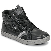 Shoes Boy High top trainers Geox JR GARCIA BOY Black / Grey