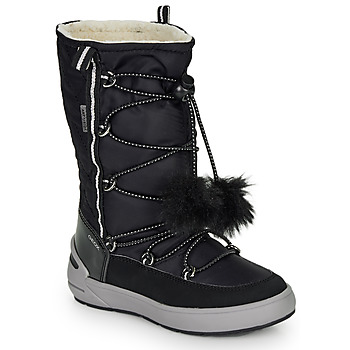Shoes Girl Boots Geox J SLEIGH GIRL B ABX Black
