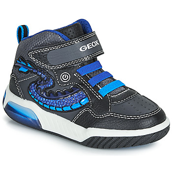 Shoes Boy High top trainers Geox J INEK BOY Black / Blue